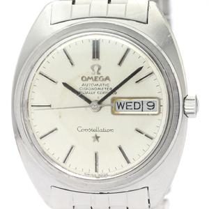 【OMEGA】オメガ コンステレーション デイデイト ステンレススチール 自動巻き メンズ 時計 168.019