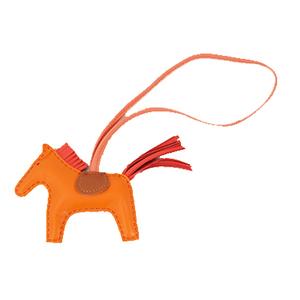 Auth Hermes charm Rodeo charm Orange