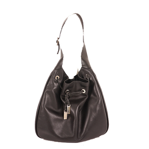 Gucci Jackie Shoulder Bag 001.4030 Women's Leather Shoulder Bag Black