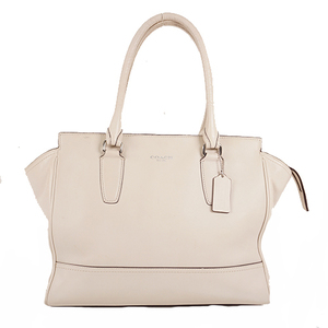 Coach Legacy Totebag 24201 Women's Leather Handbag,Shoulder Bag,Tote Bag White