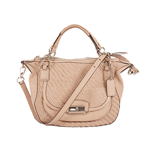 Auth Coach 2WAY Bag Leather Pink