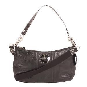 Auth Coach2WAY Bag Leather Black