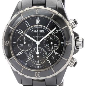 【CHANEL】シャネル J12 クロノグラフ セラミック 自動巻き メンズ 時計 H0940