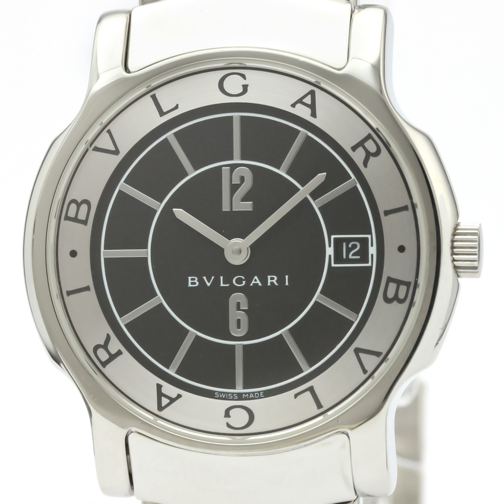 on sale 8933d 4420e ブルガリ(Bvlgari) ソロテンポ クォーツ ステンレススチール(SS) メンズ ドレスウォッチ ST35S | eLady.com