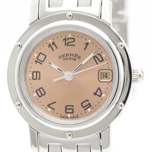HERMES Clipper Stainless Steel Quartz Ladies Watch CL4.210