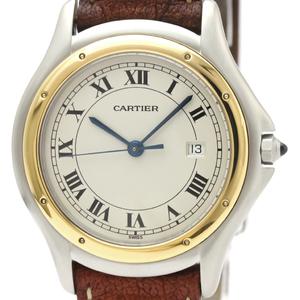 Cartier Panthere Cougar Quartz Stainless Steel,Yellow Gold (18K) Men's Dress Watch 187904