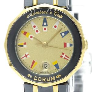 Corum Admiral's Cup Quartz Stainless Steel,Yellow Gold (18K) Women's Dress Watch 39.610.31