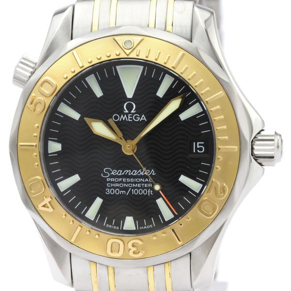 【OMEGA】オメガ シーマスター プロフェッショナル 300M K18 ゴールド ステンレススチール 自動巻き ボーイズ 時計 2453.50