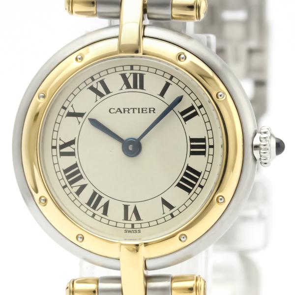 カルティエ(Cartier) パンテール ラウンド クォーツ ステンレススチール(SS),K18イエローゴールド(K18YG) レディース ドレスウォッチ