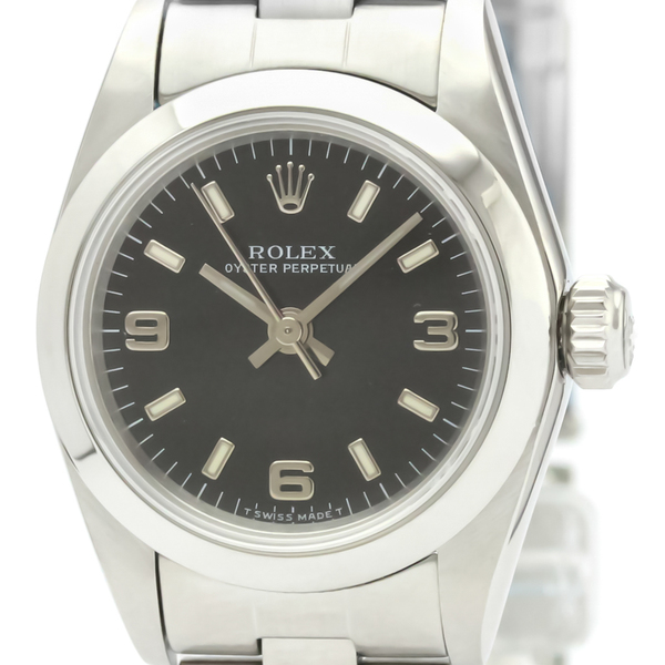 ロレックス(Rolex) オイスター・パーペチュアル 自動巻き ステンレススチール(SS) レディース ドレスウォッチ 67180