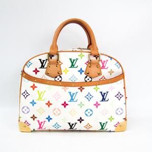 Louis Vuitton Monogram Multicolore Trouville M92663 Women's Handbag Blanc