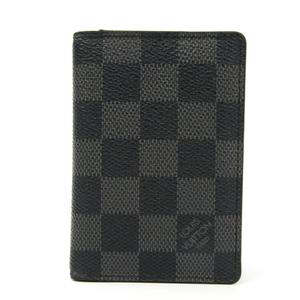 Louis Vuitton Damier Canvas Card Case Damier Graphite Pocket Organiser N63075