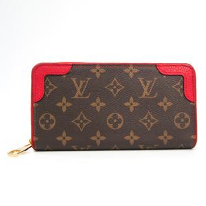 Louis Vuitton Monogram Zippy Wallet Retiro M61854 Women's Monogram Long Wallet (bi-fold) Cerise,Monogram
