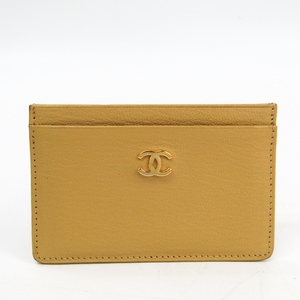Chanel Leather Card Case Beige