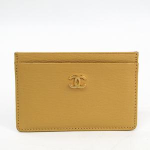 シャネル(Chanel) レザー カードケース ベージュ