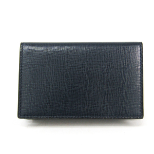 Valextra V8L03 Leather Card Case Navy