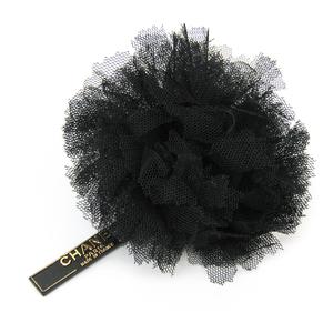 シャネル(Chanel) チュール テキスタイル コサージュ ブラック