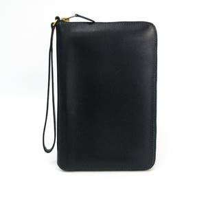 エルメス(Hermes) チャーリー トラベルケース ユニセックス ボックスカーフ 財布 ネイビー