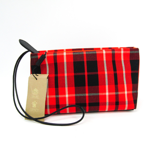 Burberry Wash Bag 4069528 Unisex Canvas,Leather Clutch Bag,Pouch Black,Ivory,Red