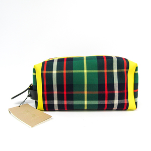 Burberry Wash Bag 4069528 Unisex Canvas,Leather Clutch Bag,Pouch Green,Red,Yellow