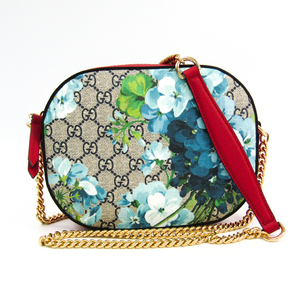 Gucci GG Blooms 546313 Women's GG Supreme,Leather Shoulder Bag Beige,Blue,Navy,Red