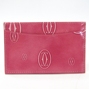 Cartier Happy Birthday Leather Card Case Pink L3000788