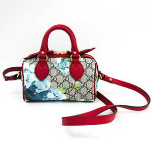 Gucci GG Blooms 546312 Women's GG Supreme,Leather Handbag Blue,Navy,Red