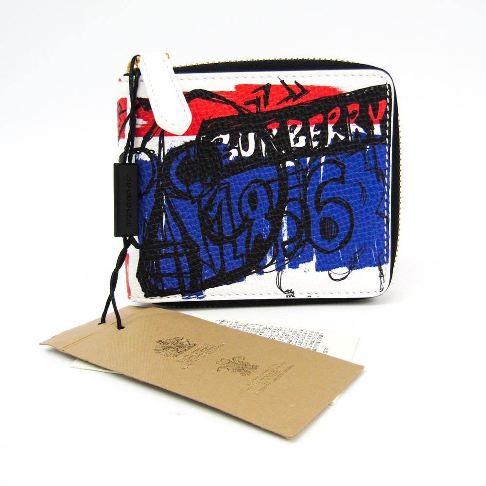 バーバリー(Burberry) スケッチブック 4061309 ユニセックス PVC カーフスキン 札入れ(二つ折り) ブルー,レッド,ホワイト