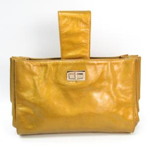 Chanel 2.55 Women's Leather Clutch Bag,Handbag Gold