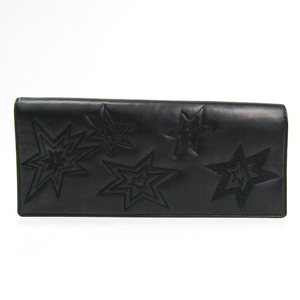 Saint Laurent 384520 Unisex Leather Clutch Bag Black