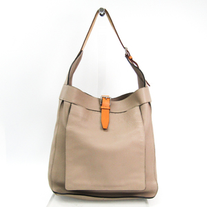 Hermes Marwari GM Taurillon Clemence Leather Shoulder Bag Etoupe Gray