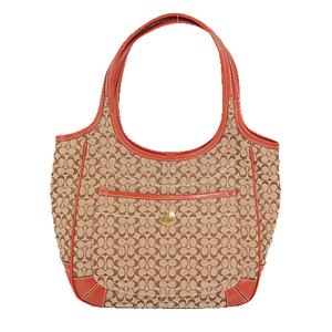 Coach Mini Signature Tote Bag 10774 Women's Canvas Handbag,Shoulder Bag,Tote Bag Beige