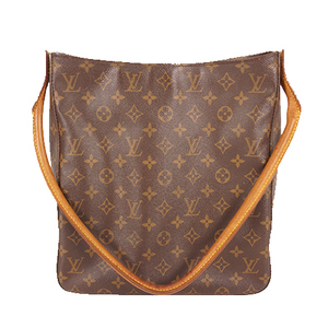 Louis Vuitton Monogram Looping GM M51145 Women's Shoulder Bag Brown