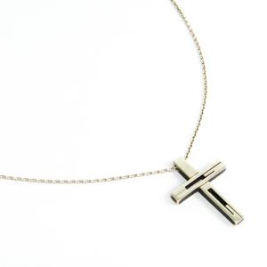 Gucci G Motif Cross Pendant 228364 J8400 8106 Silver 925 Unisex Pendant (Silver)
