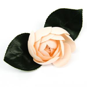 シャネル(Chanel) テキスタイル コサージュ グリーン,ライトピンク
