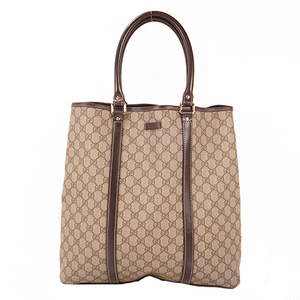 Gucci Tote Bag 223668 Men,Women,Unisex GG Supreme,Leather Handbag,Tote Bag Brown