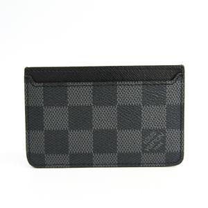 Louis Vuitton Damier Graphite Card Case Damier Graphite Neo Porte Cartes  Business Card Case N62666