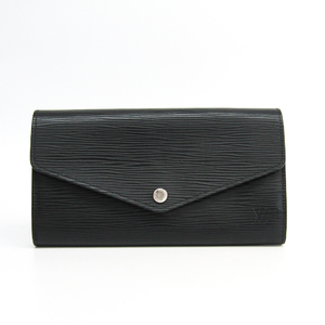 Louis Vuitton Epi Sarah Wallet M60582 Unisex Epi Leather Long Wallet (bi-fold) Noir