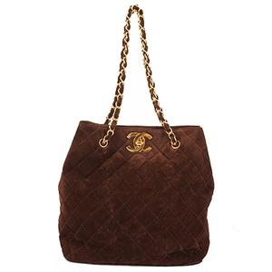 Chanel Matelasse Chain Tote Bag Women's Suede Shoulder Bag,Tote Bag Brown