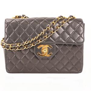 Chanel Matelasse Big Matelasse Chain Shoulder Bag W Chain Women's Leather Shoulder Bag Black