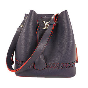 Louis Vuitton Lockme Bucket M54681 Women's Shoulder Bag Marine Rouge
