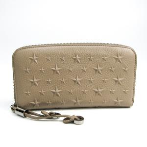 Jimmy Choo FILIPA J000080326001 Women's  Calfskin Long Wallet (bi-fold) Beige