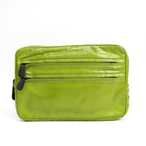 Bottega Veneta Intrecciato 245366 Leather Clutch Bag,Pouch Light Green