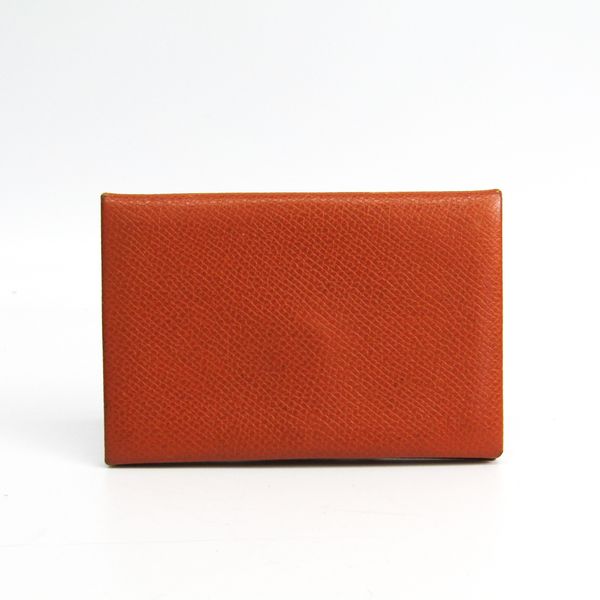 エルメス(Hermes) カルヴィ エプソン カードケース キャメル