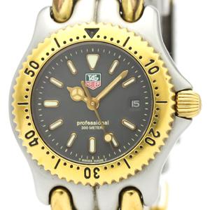 【TAG HEUER】タグホイヤー セル プロフェッショナル 200M ゴールドプレート ステンレススチール クォーツ レディース 時計 S95.215