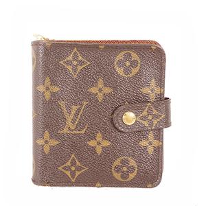 Auth Louis Vuitton Monogram  Compact Zip Wallet M61667