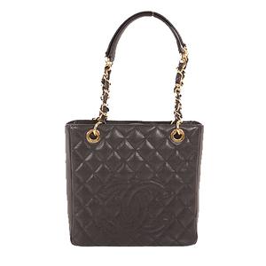 Auth Chanel Chain Shoulder Women's Caviar Leather Shoulder Bag