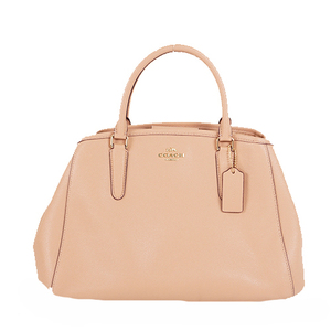Auth Coach Handbag F57527 Beige,Pink