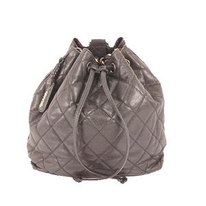 Auth Chanel Caviar Skin  Caviar Backpack Black