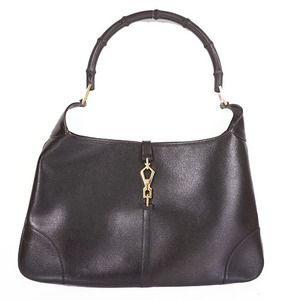 Auth Gucci Jackie Shoulderbag  001.4061 Women's Leather Black